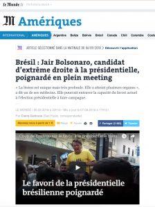 atentado a bolsonaro - imprensa internacional