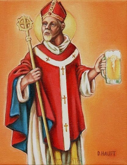 Santo Agostinho e Santo Arnulfo de Metz